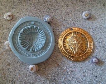 fimo wepam inca Sun Medallion silicone mold