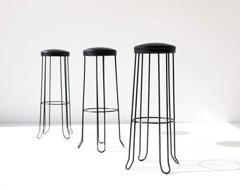 modern bar stools, mid century bar stool, midcentury modern stool, barstool, metal bar stools
