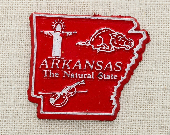 Arkansas Vintage State Magnet | Travel Tourism Summer Vacation Memento | Natural State USA America | Fridge Refrigerator 5S