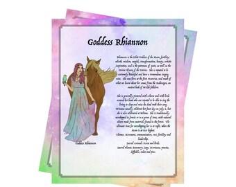 2 Pages For Your BOS ~Goddess Rhiannon Bundle~Grimoire