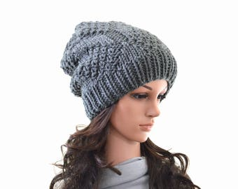 READY TO SHIP Knit Slouchy Men Woman Hat Beanie Toque | The Portland