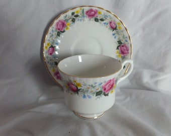 Daisy, Buttercup and Rose Teacup and Saucer
