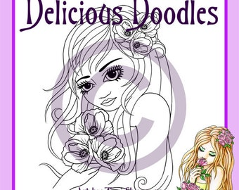 Digital Stamp - Pretty Poppy