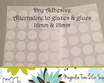 Glass Pendant Adhesive, Alternative to Glue & Glaze, Clear double sided adhesive stickers, Stickies, Easy to use 16mm or 18mm, G001/G002
