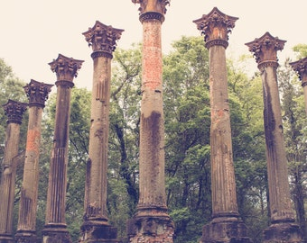 Southern photography, mississippi photography, windsor ruins, southern art, antebellum, ruins, large wall art, port gibson, southern decor