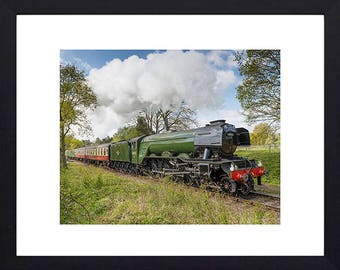 The Flying Scotsman-father's day gift-FREE POSTAGE-framed photographic print-wall art-train photography - gifts for men- gifts for grandad