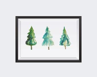 Printable Christmas Poster, Christmas Tree poster, Printable Wall Art, Digital poster, Instant Download, Christmas Tree Collection
