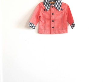 Vintage Red and Navy Shirt