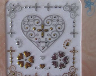 sticker charms representing different hearts and dots
