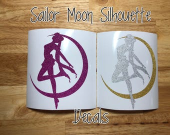 Sailor Moon Silhouette Decal