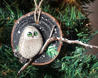 Winter Owl Ornament - 011