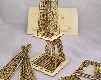 Eiffel Tower Puzzle Gift Box with Paris and Vive La France Sign