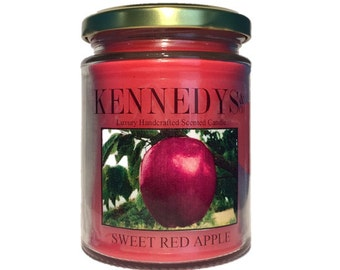 Sweet Red Apple Handcrafted Scented Candle