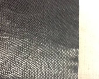 Faux leather - lizard black leatherette fabric