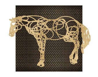Rose Gold Foil Print / Square 20x20cm or 30x30cm / Minimalist Design / Art Print / Wall Art / Foil Print / Animal Print