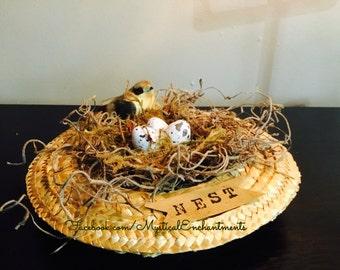 Easter straw hat Birds nest