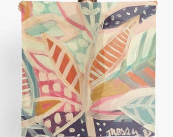 Messy Heart Studio original artwork scarf, lifestyle art, messy heart studio lifestyle design