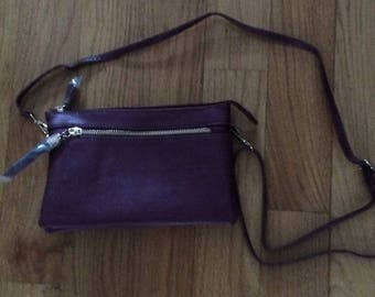 Burgundy Tassel Bag, tassel bag, burgundy, Laska Boutique bag, made in USA