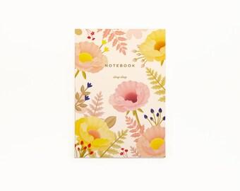 Oriental Poppy Notebook - Vanilla
