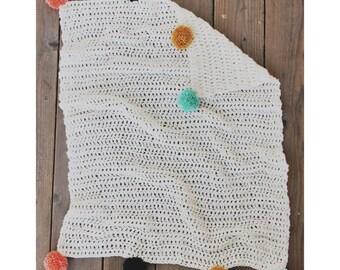 Blanket Baby, Toddler : Crocheted Pom