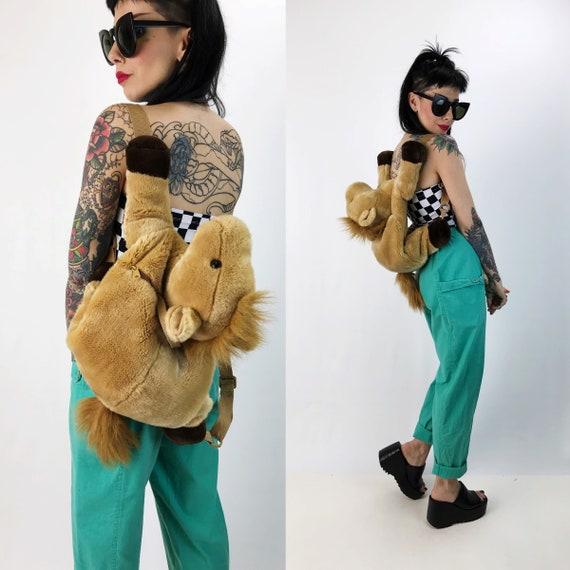 Cute Horse Animal Backpack Purse - Plush Stuffed Animal Pony Purse - Stuffed Animal Pony Backpack Kawaii Cute Plushie Backpack Tote/Purse