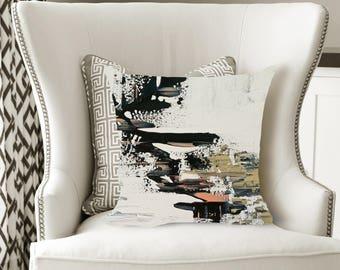 Abstract Art Decorative Pillow, Soft Velveteen Modern Decor printed from Original Art - multiple sizes