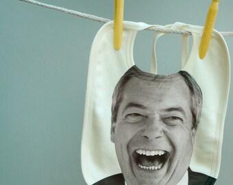 Baby Bib Nigel Farage for Political Babies