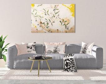 Olive branch CANVAS Print, Olive Tree painting, Olive Tree Print, Botanical Print, Botanical Art, Plant Print, Tree Print, #902BO