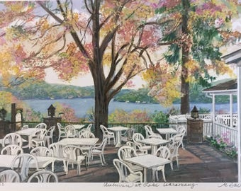 Autumn at Lake Waramaug, Connecticut scene beloved by visitors