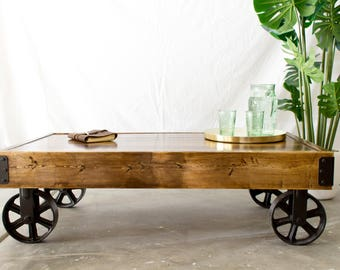 Industrial Cart Coffee Table (LOCAL Pickup/Delivery ONLY)