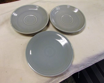 SALE Set of 3 vintage old grey fiestaware dishes