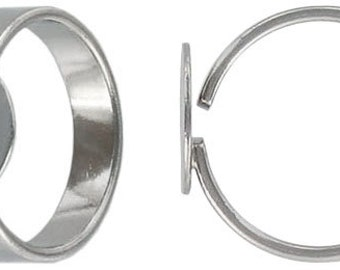 3-12pcs--Finger ring, Stainless Steel, expandable, with pad 12mm, size 8 and up (B48-6)