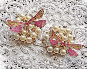 Reneabouquets Dragonfly Set ~Pink Champagne Dragonflies