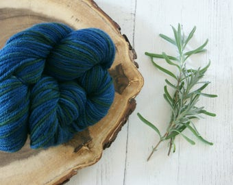 Merino Wool 100g - DK Double Knit - Indigo Green - Hand Dyed with Natural Dyes
