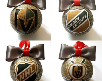 Las Vegas Golden Knights Christmas Tree Baubles/Decorations - set of 4
