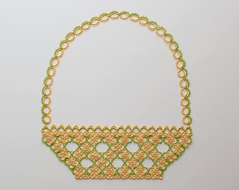 Basket Tatting Pattern