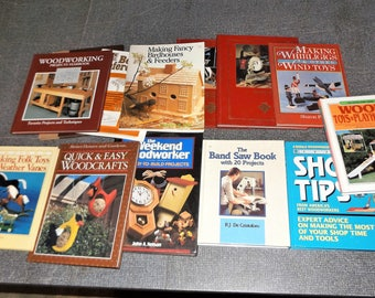Lot of 12 Assorted Woodworking Books, Shop Tips, Projects, Wood Turning, etc