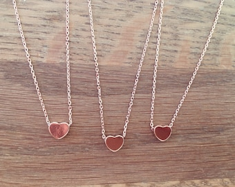 The Little Rose Gold Heart Necklace - Complete with Gift Wrap