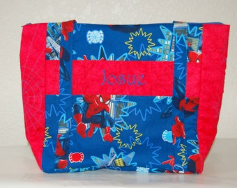 Tote bag made from Spiderman fabric