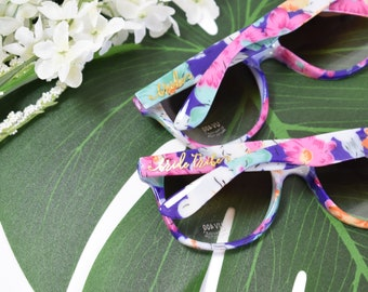 Bride Tribe Floral Sunglasses 6ct Bridal Party Favors - Bride Tribe Gifts - Bachelorette Sunglasses - Bachelorette Party Favors EB3203TRB