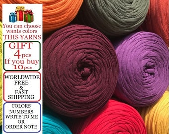 Basket yarn, 10x 5.5-11-22 yards=10x 5-10-20 meters yarn, Recyled Fabryc yarn, textile yarn, crochet yarn, basket, fabric yarn, bag yarn