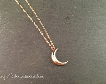 Necklace rose gold Moon simply
