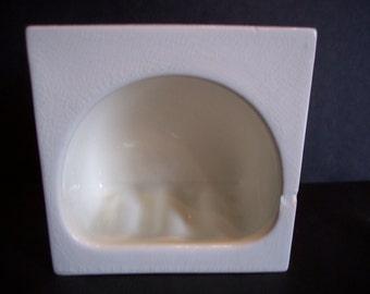 Vintage White Porcelain Soap Dish