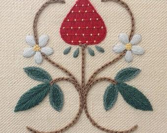 Crewel Kit A Strawberry Fair, Crewel Embroidery Kit A Strawberry Fair, Crewelwork embroidery kit A Strawberry Fair