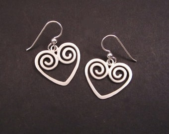 Happy Hearts silver earrings