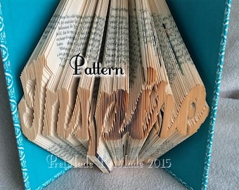 Inspire - Folded Book Art Pattern - Instant Download!