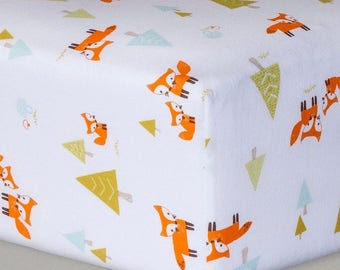 Create your own custom crib sheet, customizable crib sheet, Woodland Animals