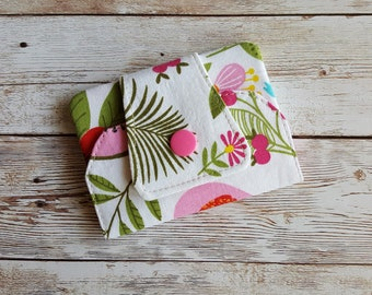 Card wallet | card holder | travel wallet | loyalty card keeper | minimalist wallet | credit card case | flamingo flowers