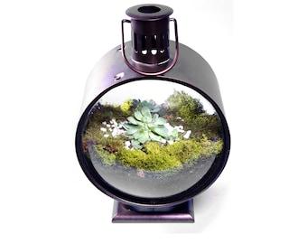 Vintage Lantern Terrarium with Handle