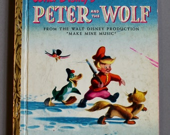 Vintage Little Golden Book - No.D5 Walt Disney's Peter and the Wolf I edition
